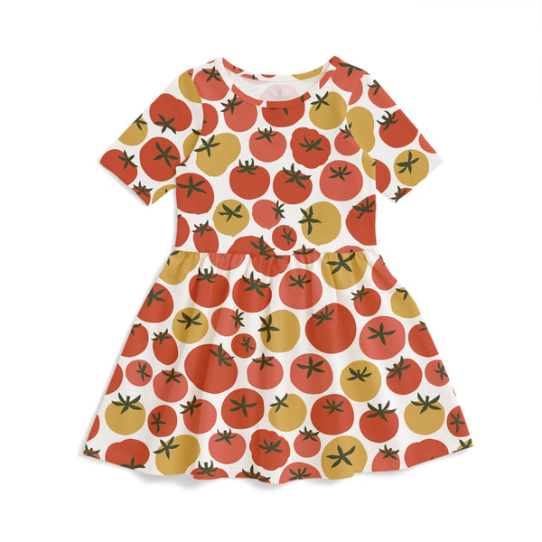 Alberta Dress - Tomatoes Red & Yellow
