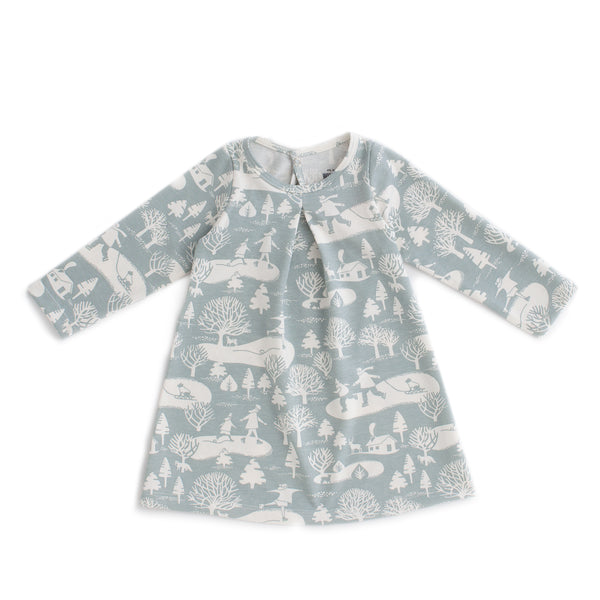 Aspen Baby Dress - On The Ice Pale Blue