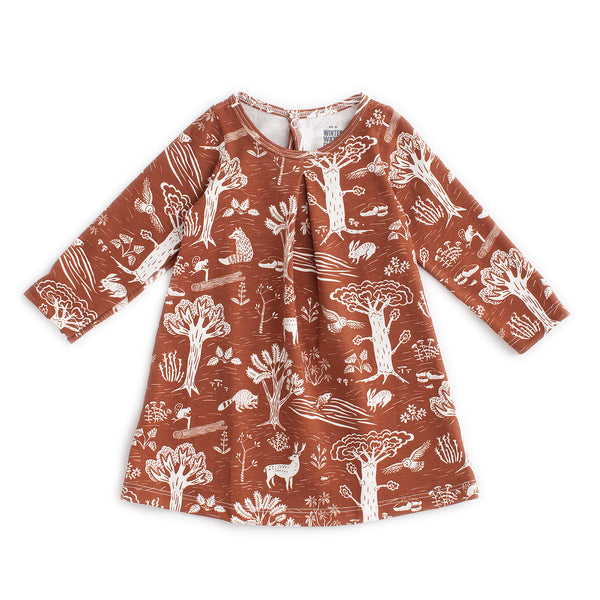 Aspen Baby Dress - In the Forest Chestnut