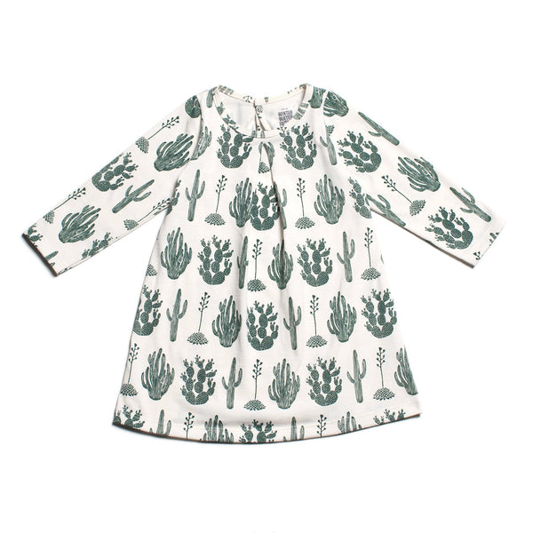 Aspen Baby Dress - Cactus Green