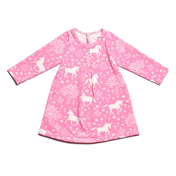 Aspen Baby Dress - Magical Forest Pink