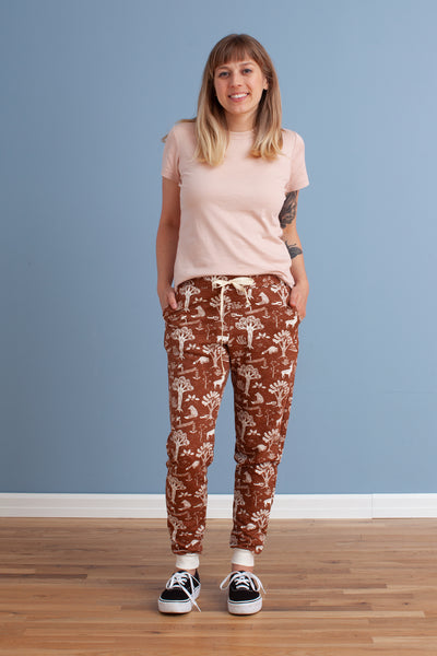 Adult Sweatpants - In the Forest Chestnut