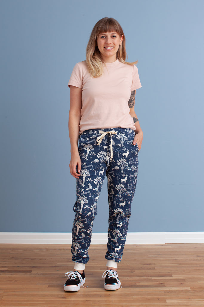Adult Sweatpants - In the Forest Navy