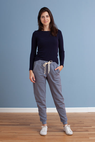 Adult Sweatpants - Solid Slate Blue
