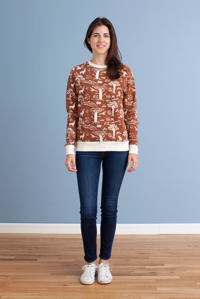 Adult's Sweatshirt - In the Forest Chestnut
