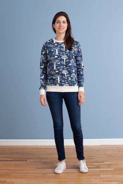 Adult's Sweatshirt - In the Forest Navy