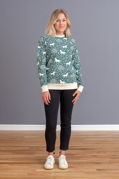 Adult's Sweatshirt - Magical Forest Teal