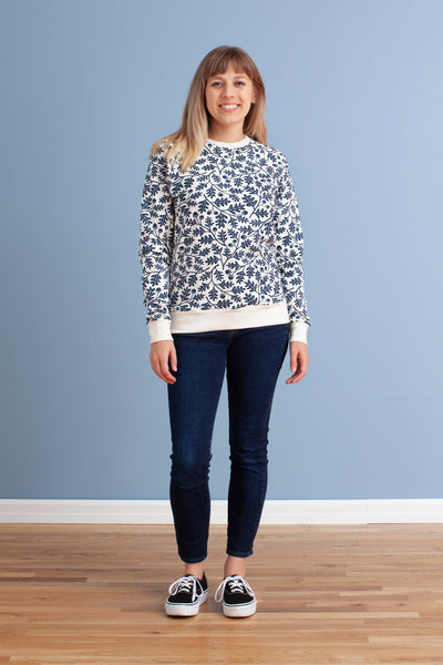 Adult's Sweatshirt - Oak Leaves Navy