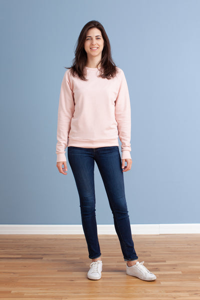 Adult's Sweatshirt - Solid Pink