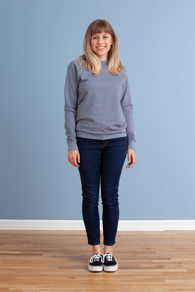 Adult's Sweatshirt - Solid Slate Blue