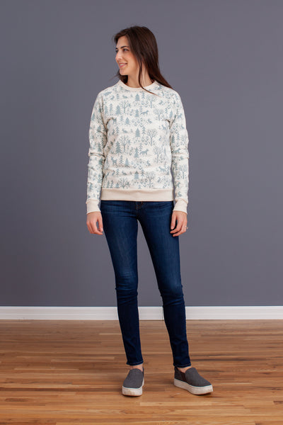 Adult Sweatshirt - Winter Scenic Pale Blue