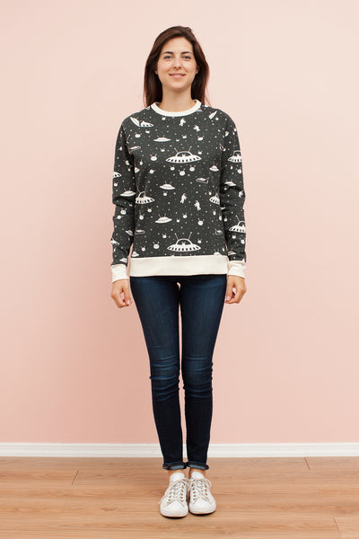 Adult Sweatshirt - Outer Space Charcoal