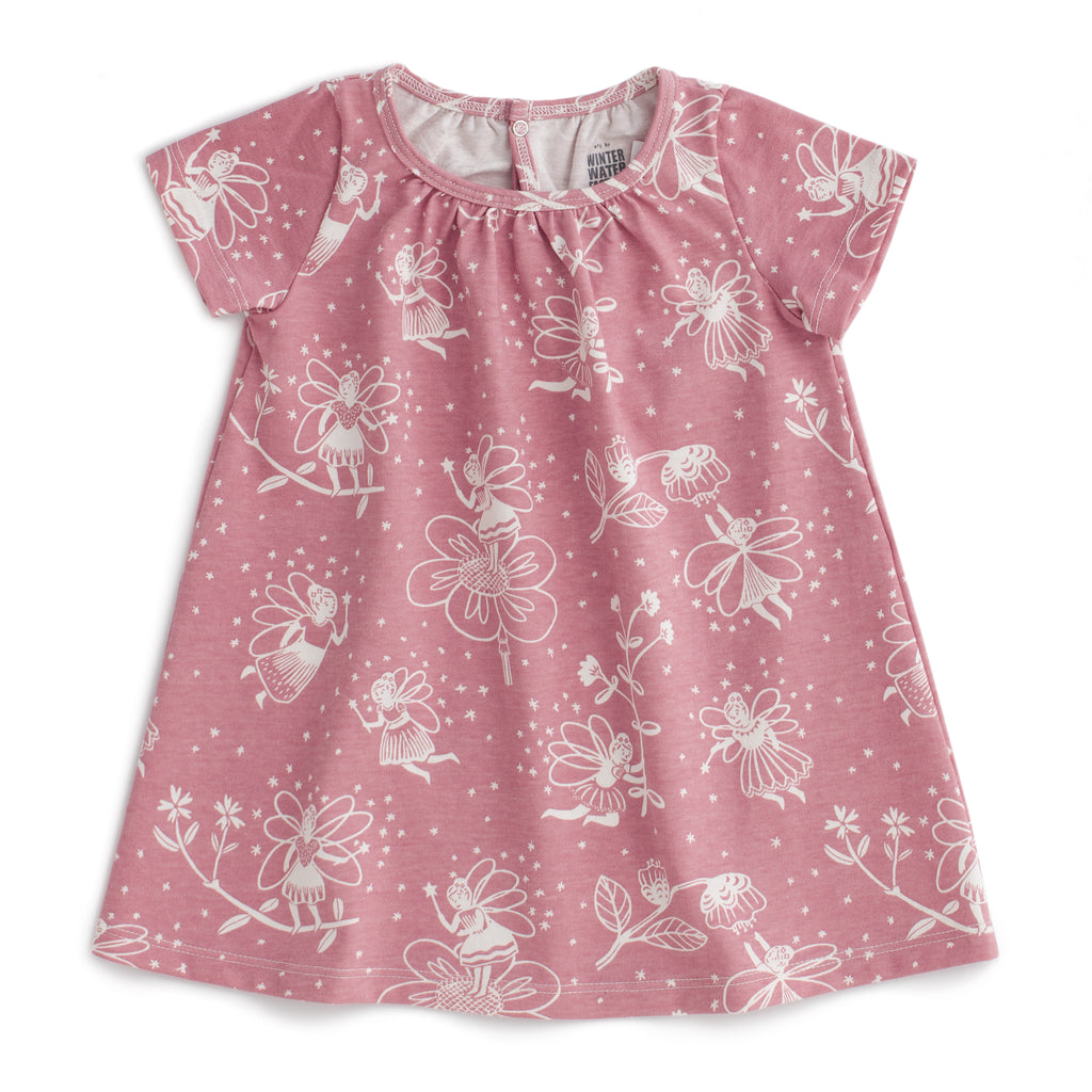 Azalea Baby Dress - Fairies Dusty Pink