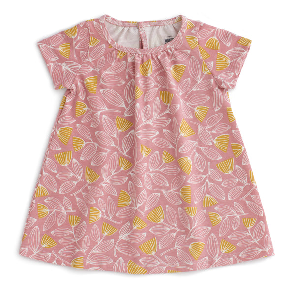 Azalea Baby Dress - Holland Floral Dusty Pink & Yellow