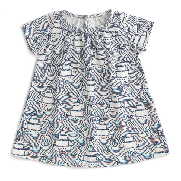 Azalea Baby Dress - High Seas Navy