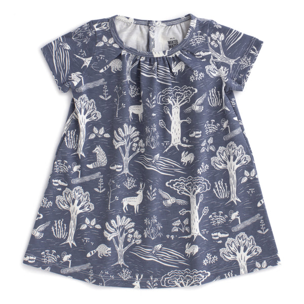 Azalea Baby Dress - In the Forest Slate Blue
