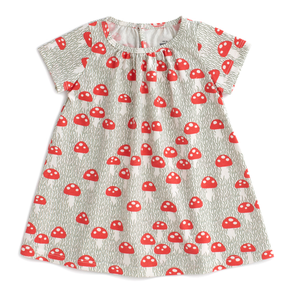 Azalea Baby Dress - Mushrooms Sage