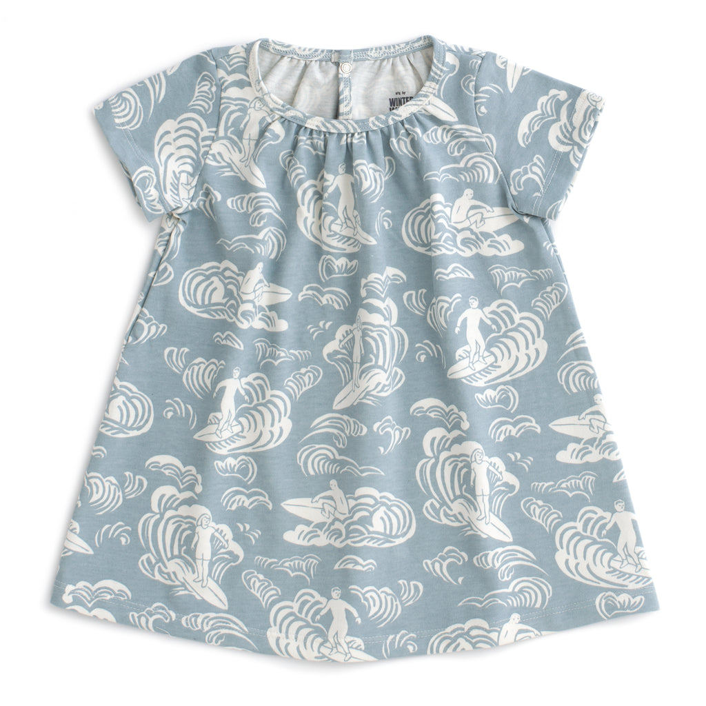 Azalea Baby Dress - Surfers Pale Blue