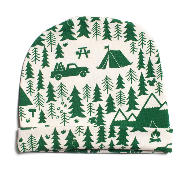 Baby Hat - Campground Green