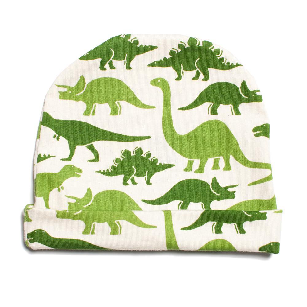 Baby Hat - Dinosaurs Green