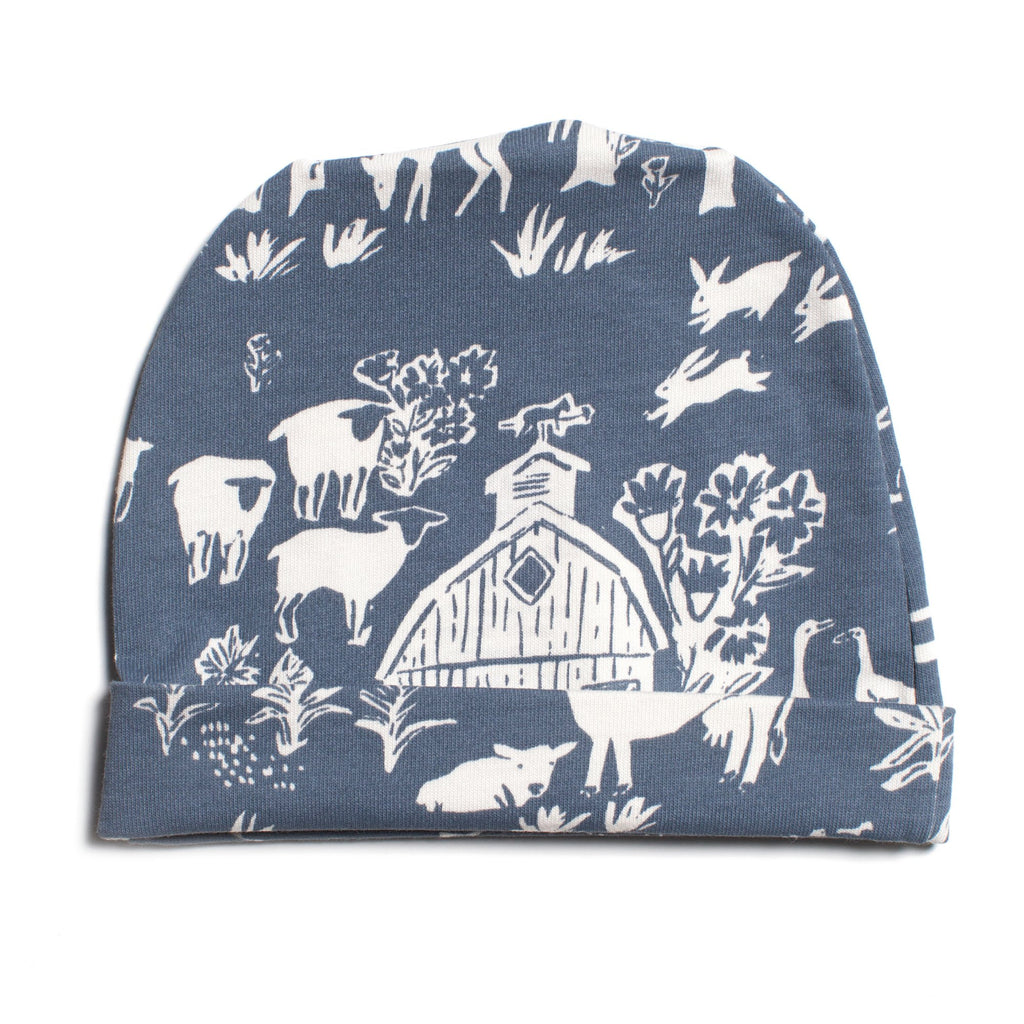 Baby Hat - The Farm Next Door Slate Blue