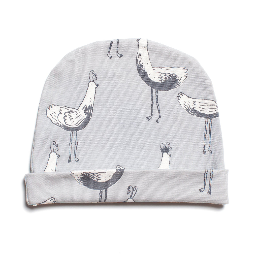 Baby Hat - Bird Parade Grey