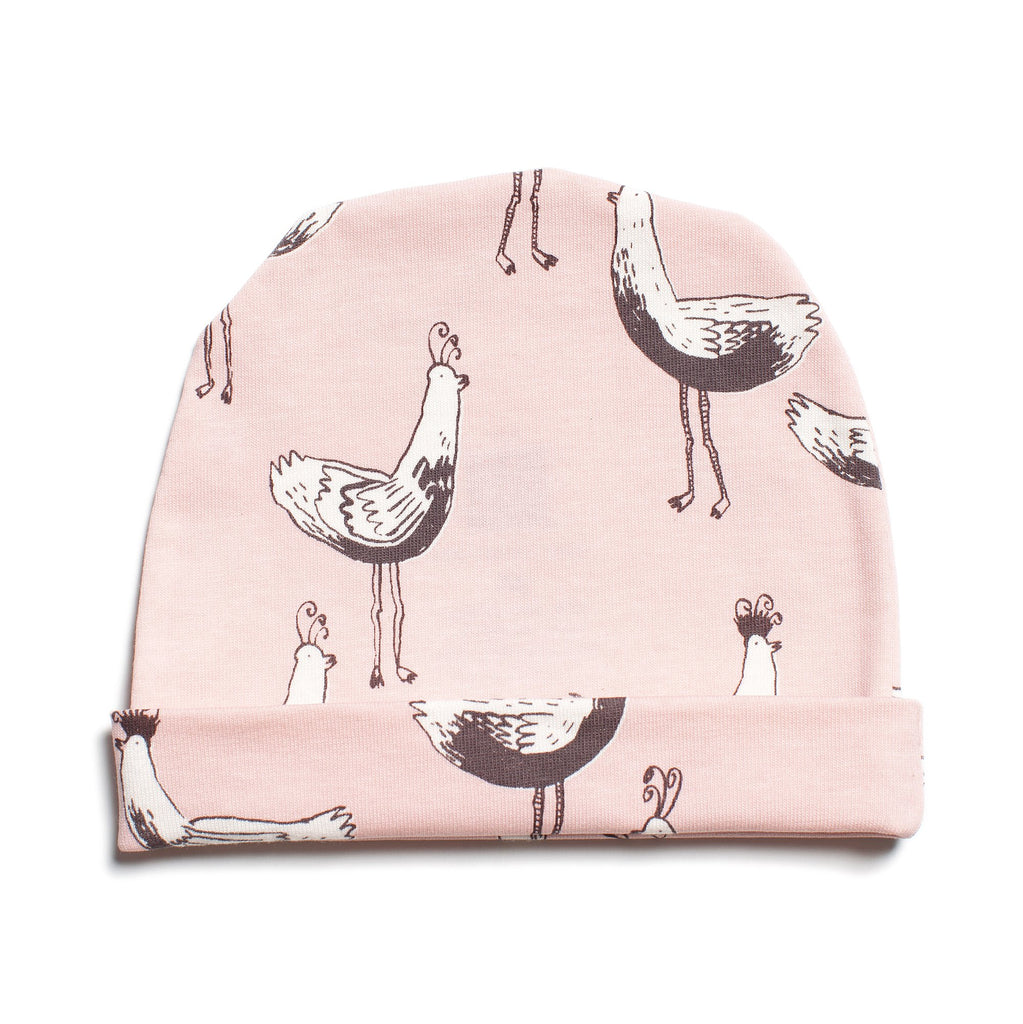 Baby Hat - Bird Parade Pink