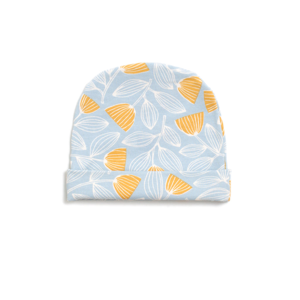 Baby Hat - Holland Floral Blue & Yellow