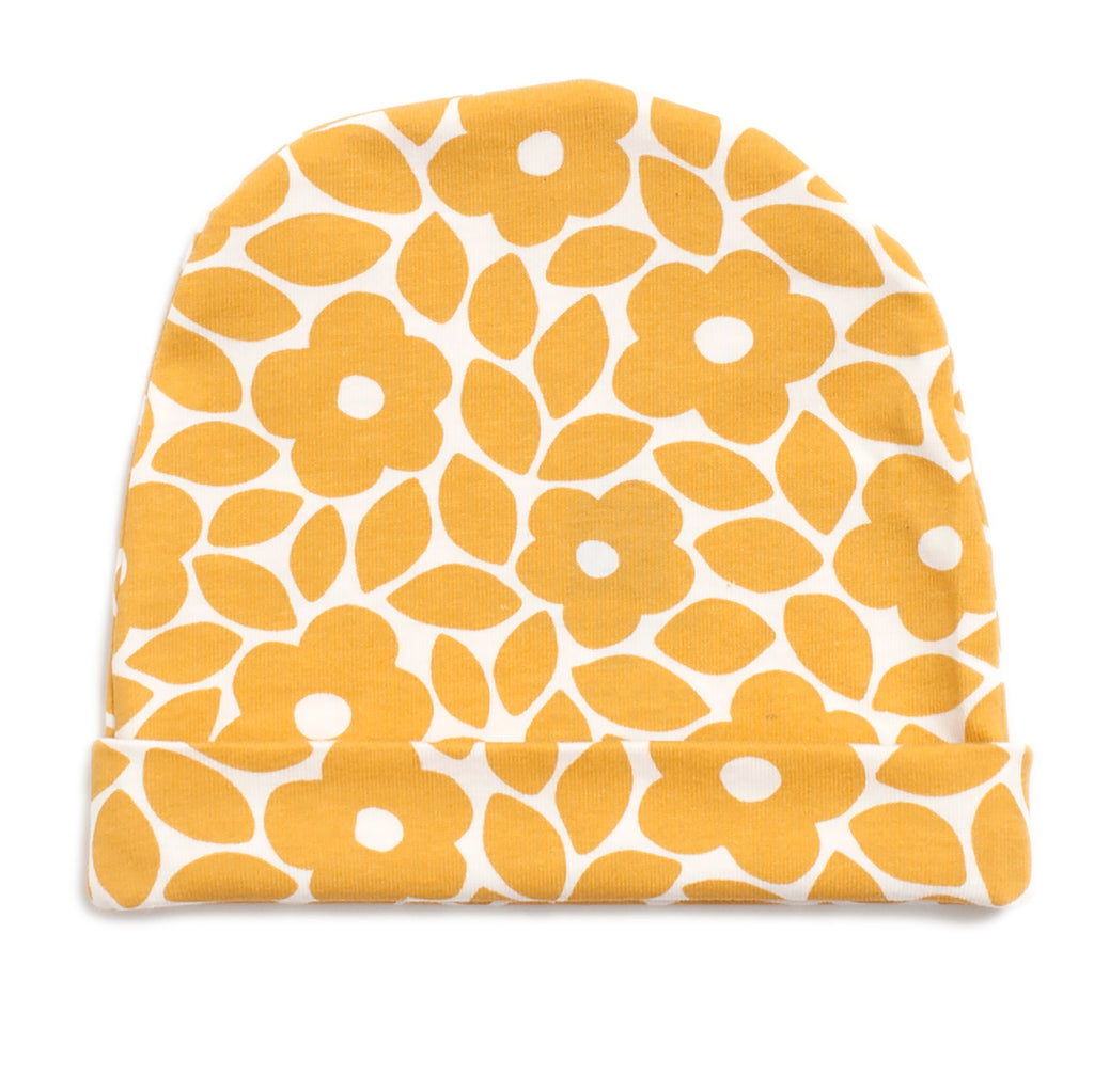 Baby Hat - Marrakesh Floral Yellow