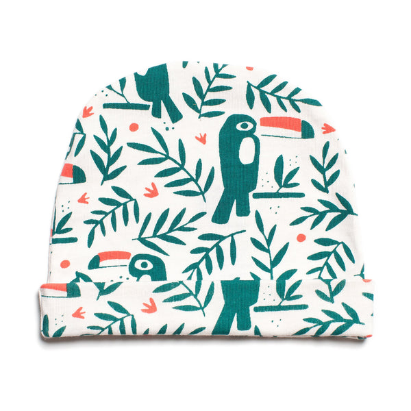 Baby Hat - Toucans Green