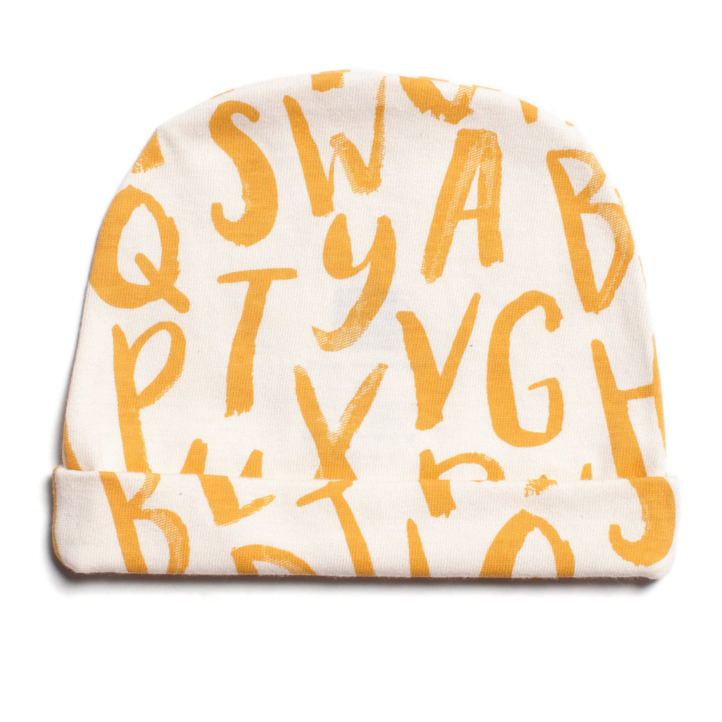 Baby Hat - Alphabet Yellow