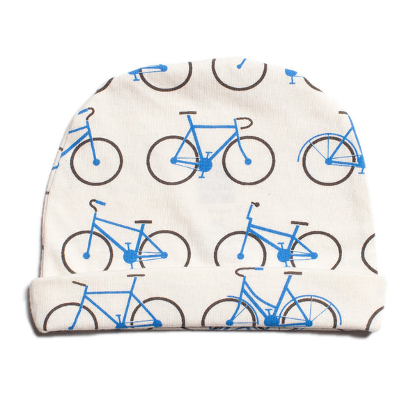 Baby Hat - Bicycles Blue