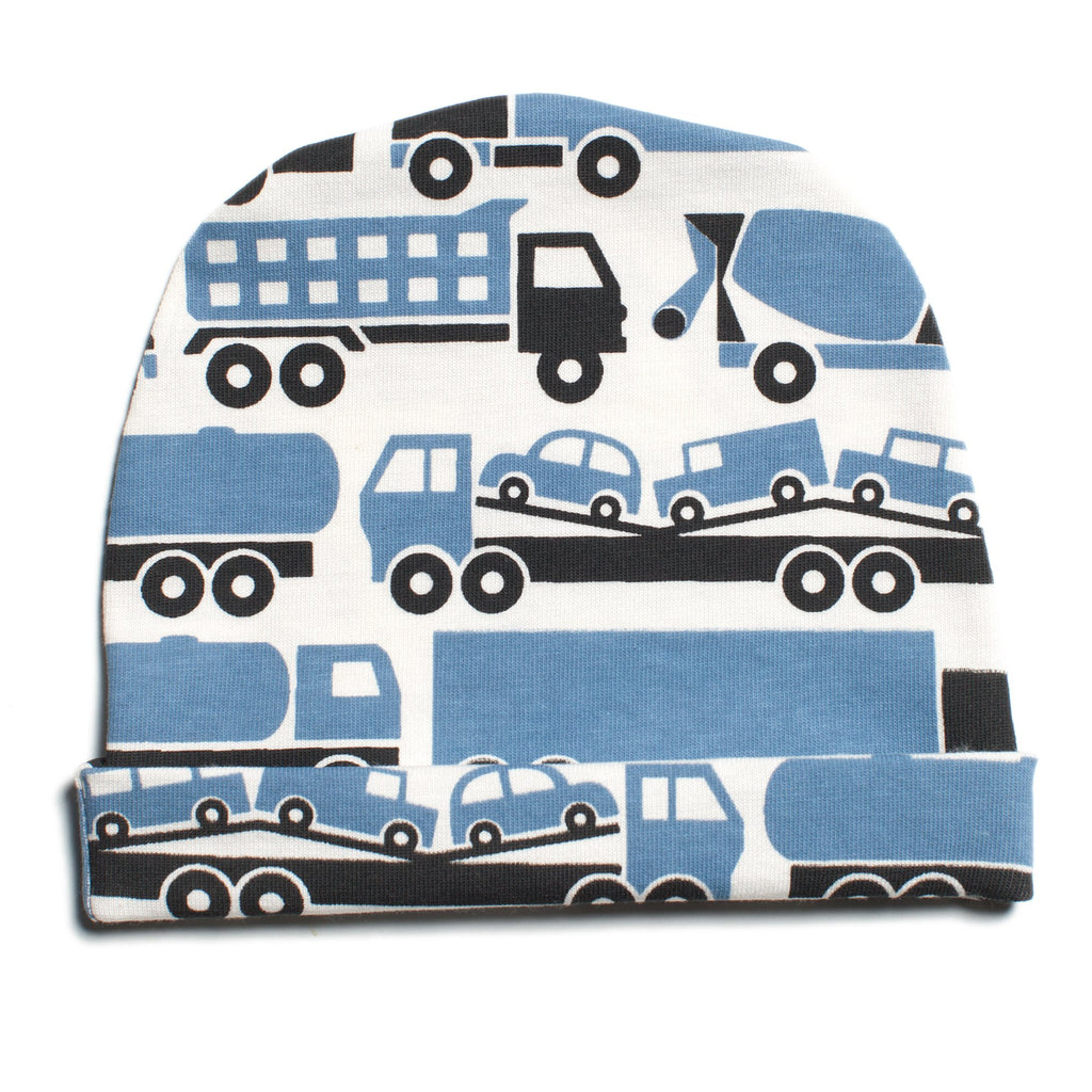 Baby Hat - Big Rigs Blue