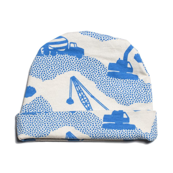 Baby Hat - Construction Electric Blue