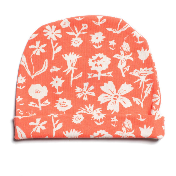 Baby Hat - In The Garden Coral