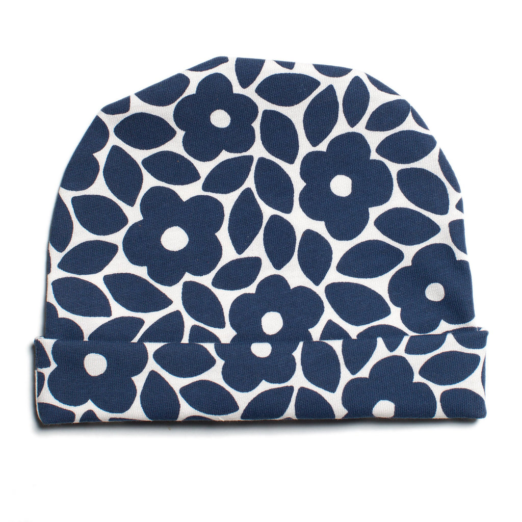 Baby Hat - Marrakesh Floral Midnight Blue