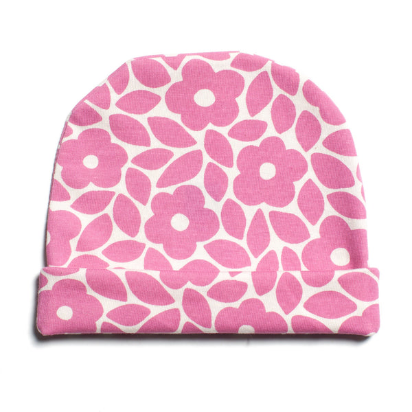 Baby Hat - Marrakesh Floral Dusty Rose