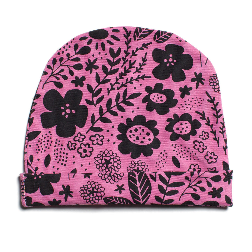 Baby Hat - Wildflowers Dusty Rose