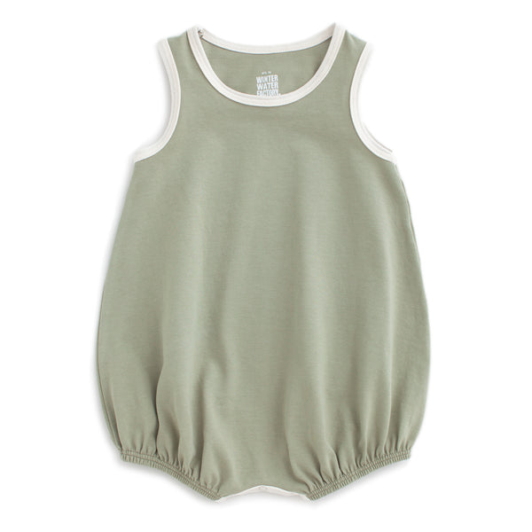 Bubble Romper - Solid Sage