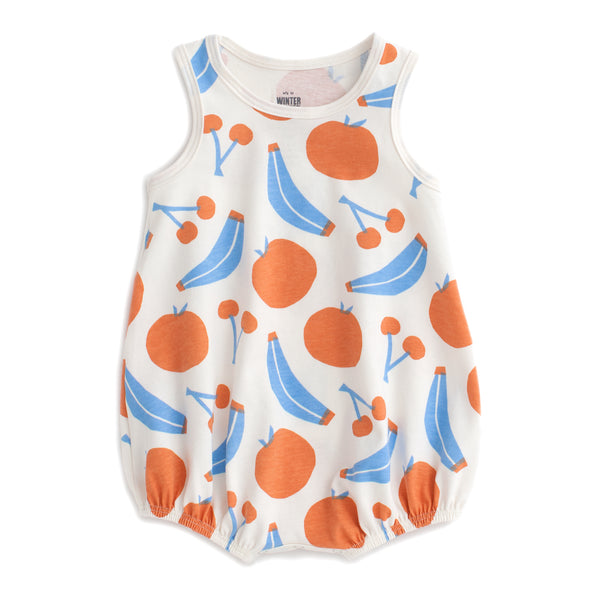 Bubble Romper - Yummy Fruit Blue & Orange