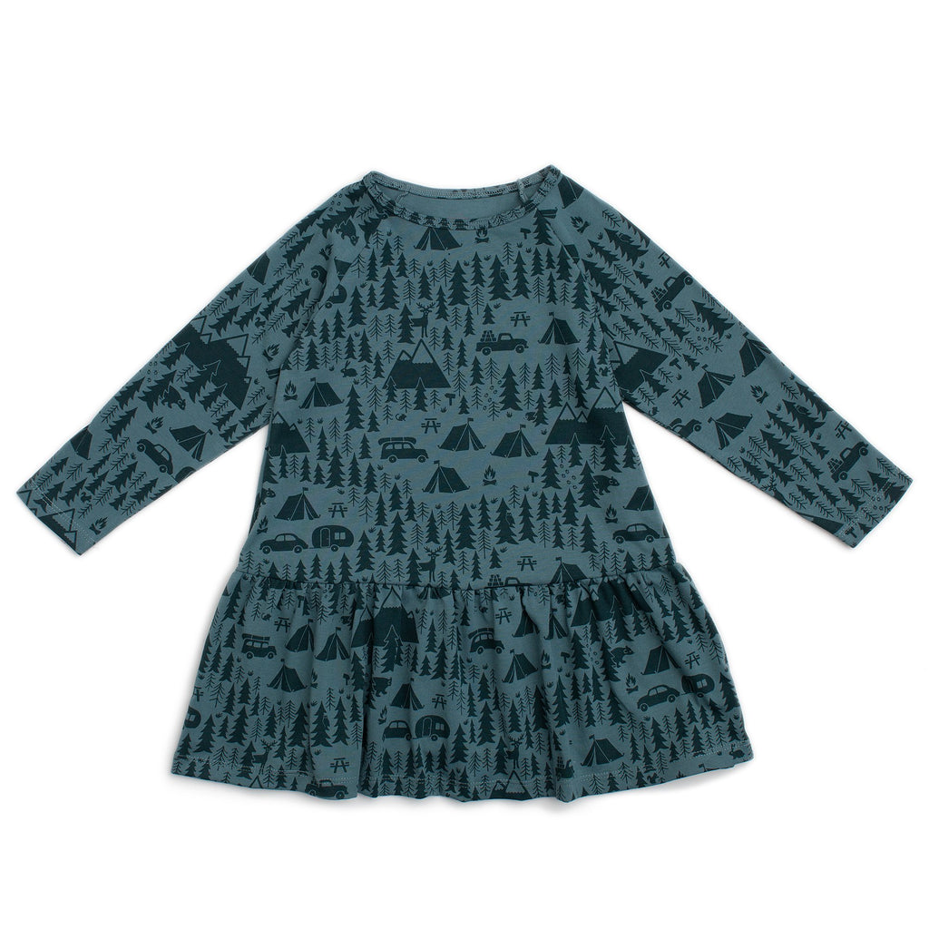 Chicago Dress - Campground Teal