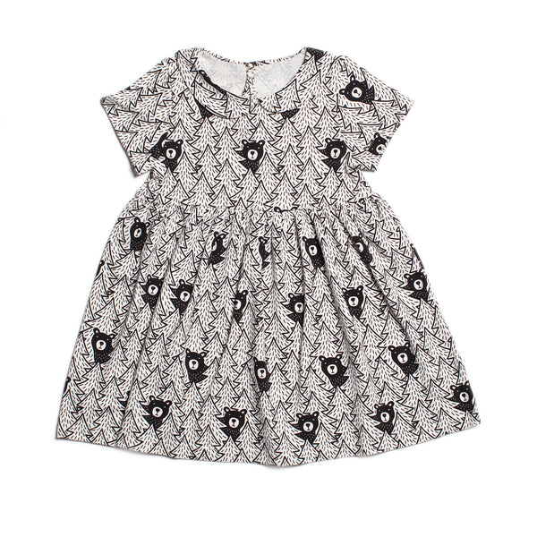 Chelsea Dress - Bears Black