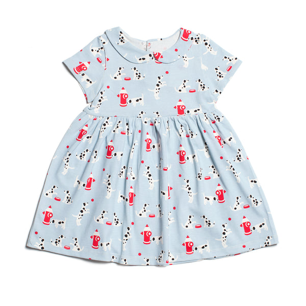 Chelsea Dress - Dalmatians Blue