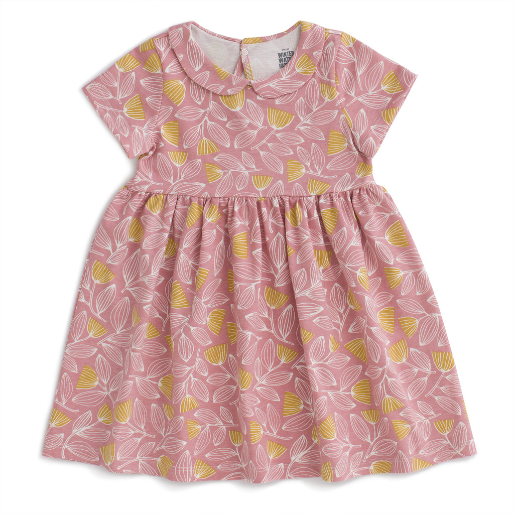 Chelsea Dress - Holland Floral Dusty Pink & Yellow
