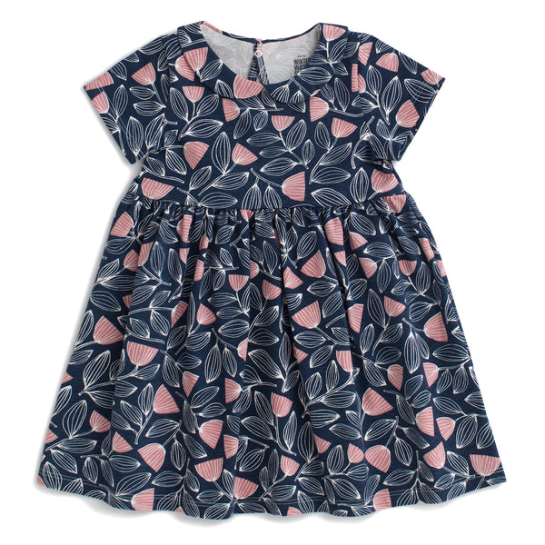 Chelsea Dress - Holland Floral Midnight Blue & Dusty Pink