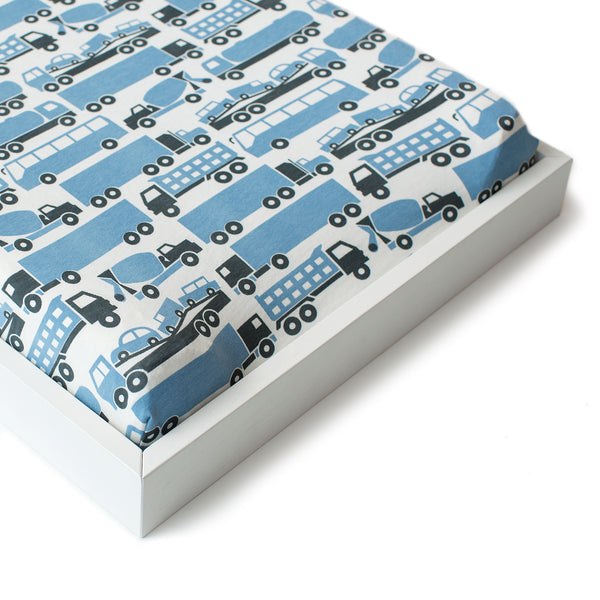 Changing Pad Cover - Big Rigs Blue