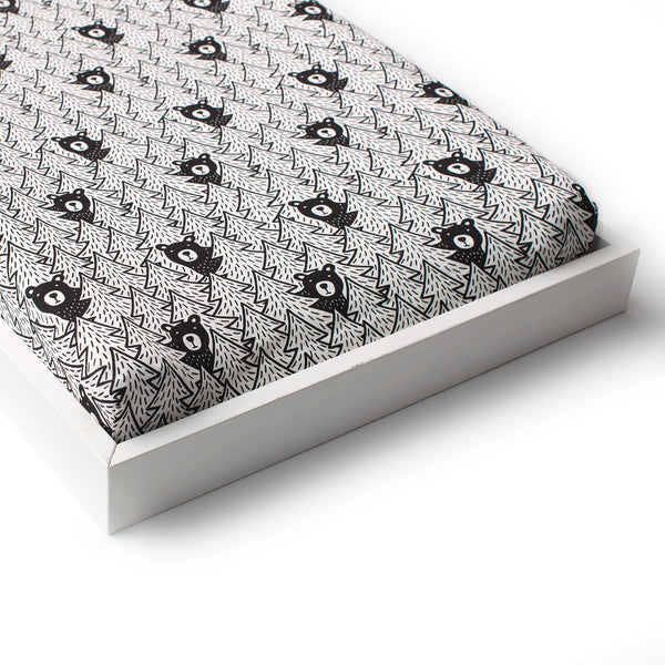 Changing Pad Cover - Bears Black