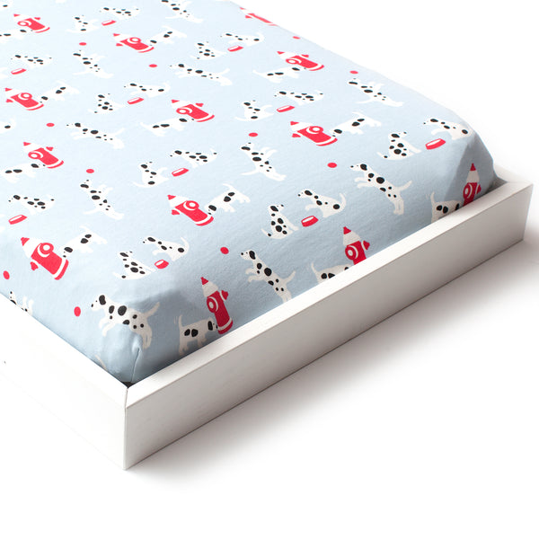 Changing Pad Cover - Dalmatians Blue