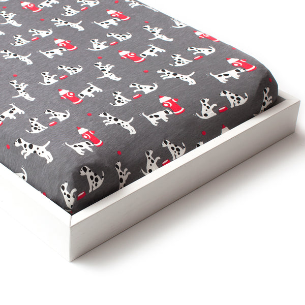 Changing Pad Cover - Dalmatians Charcoal