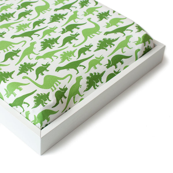 Changing Pad Cover - Dinosaurs Green